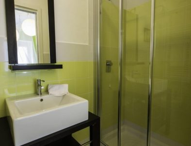 One of the bathrooms in the first unit