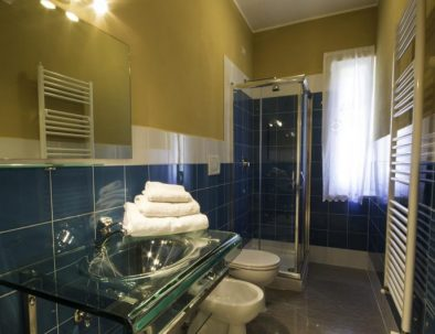 One of the bathrooms in the second unit