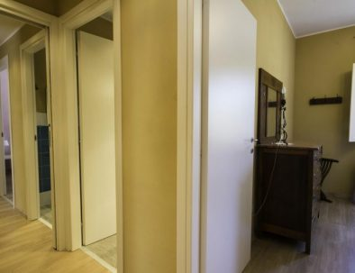 The corridor in the second unit