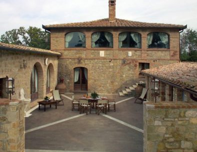 The outside of the Villa