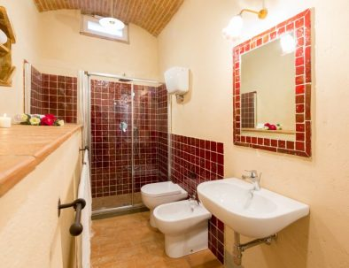 The bathroom in the apartment Chiara (unit 1)