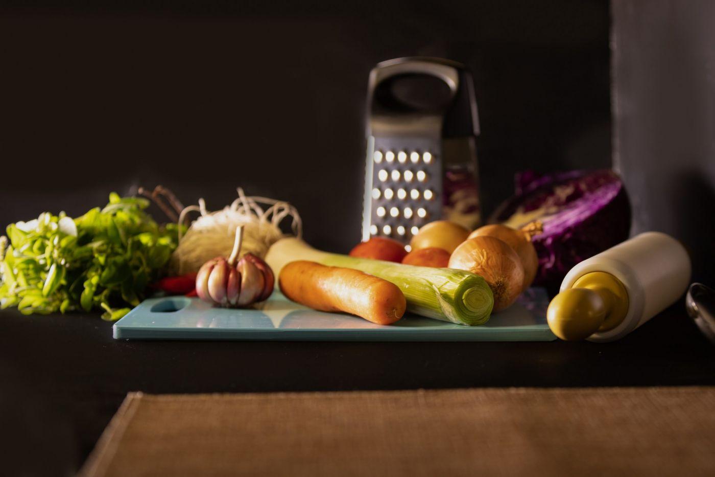 Italian kitchen utensils fresh handmade pasta